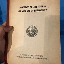 Violence in the city -- An end of a beginning?
