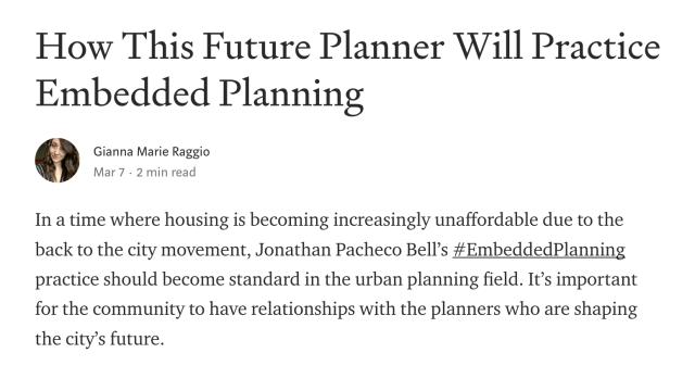 Gianna Raggio Embedded Planning